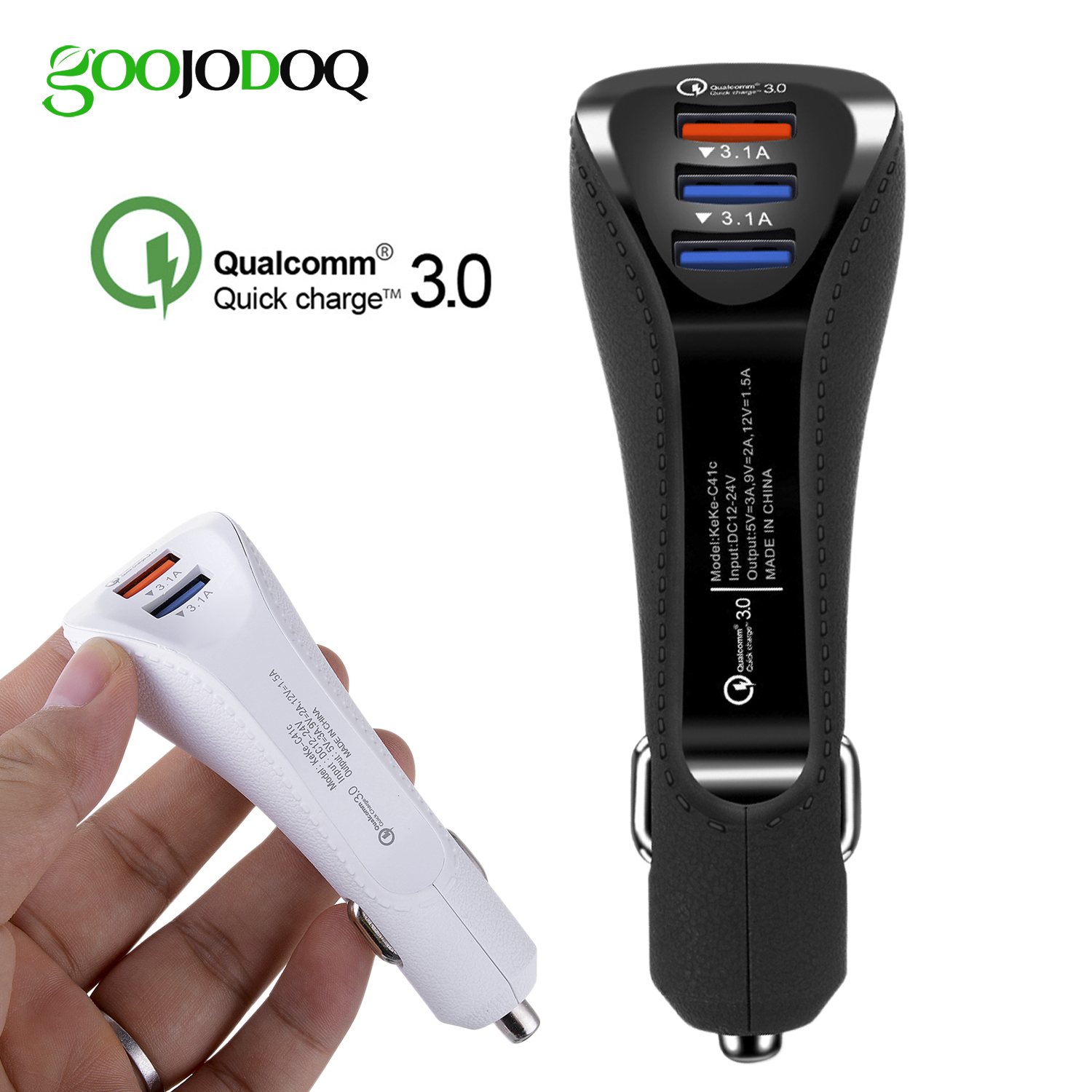 QC Quick Charge 3.0 Dual Car Charger Adapter Auto Mobile Pho