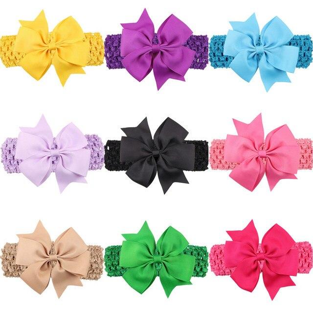 5 Unids/lote Recién Nacido Diadema Chica Arcos Color Impreso Patrón ...