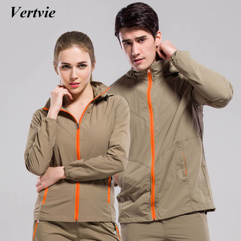 Vertvie Women Men Outdoor Sport Suit Jacket Running Fitness  Long Sleeve Zipper Jacket+Pants Set Fit Fishing Hiking Camping outdoor sport pants stitching breathable quick drying pants cycling hiking camping fishing running jogging luminous sports pants
