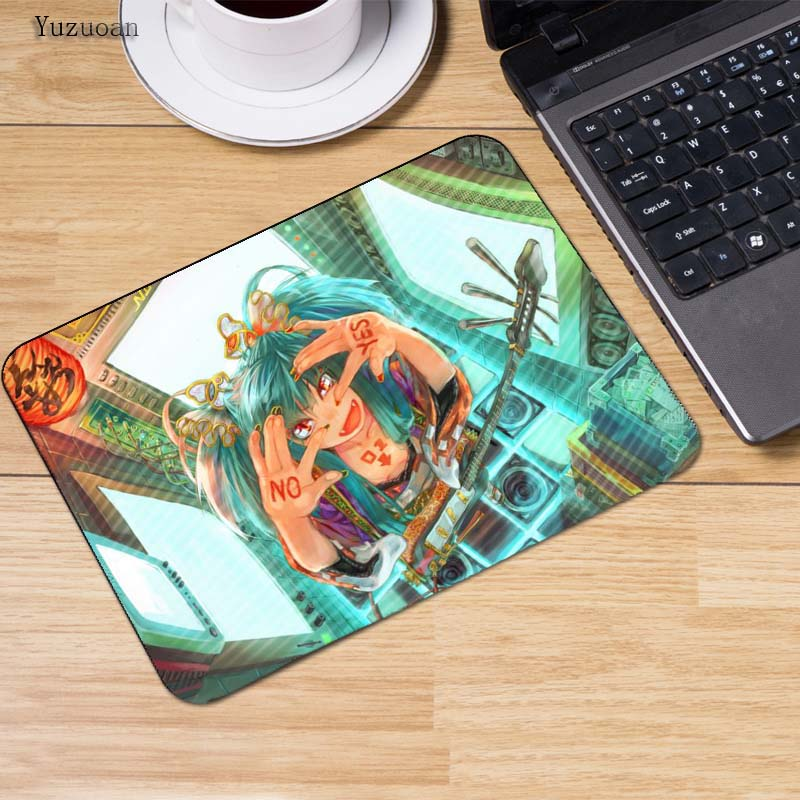 Yuzuoan 180*220*2mm Cute girl Hatsune Miku Anime Mouse pad gamer gaming anime mouse pad table mat for PC computer laptop