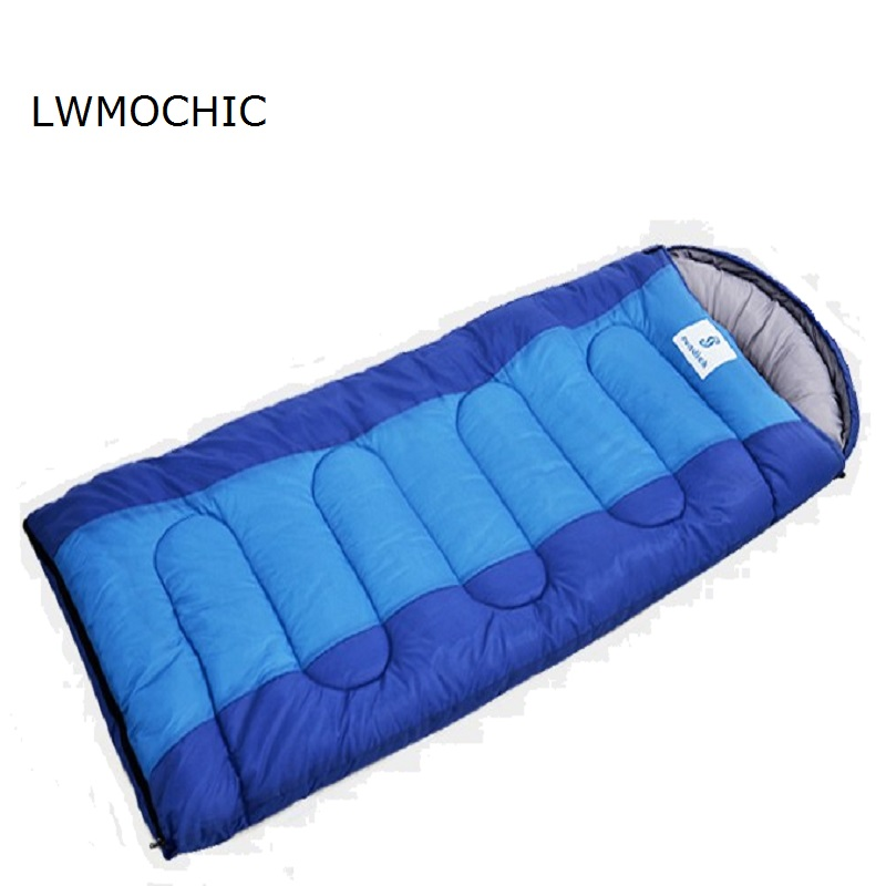 Us 58 08 12 Off Lemochic High Quailty Splicing Double Winter Sleeping Bag Camping Outdoor Bags Cotton Filled Ultralight Sleepingbags In