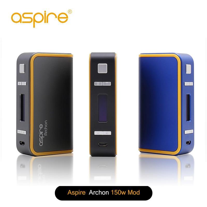 100% Original Aspire Archon 150W TC Box MOD Temper Control Vaping MOD Support VW TC modes NO 18650 Battery perseus 150w tc box mod