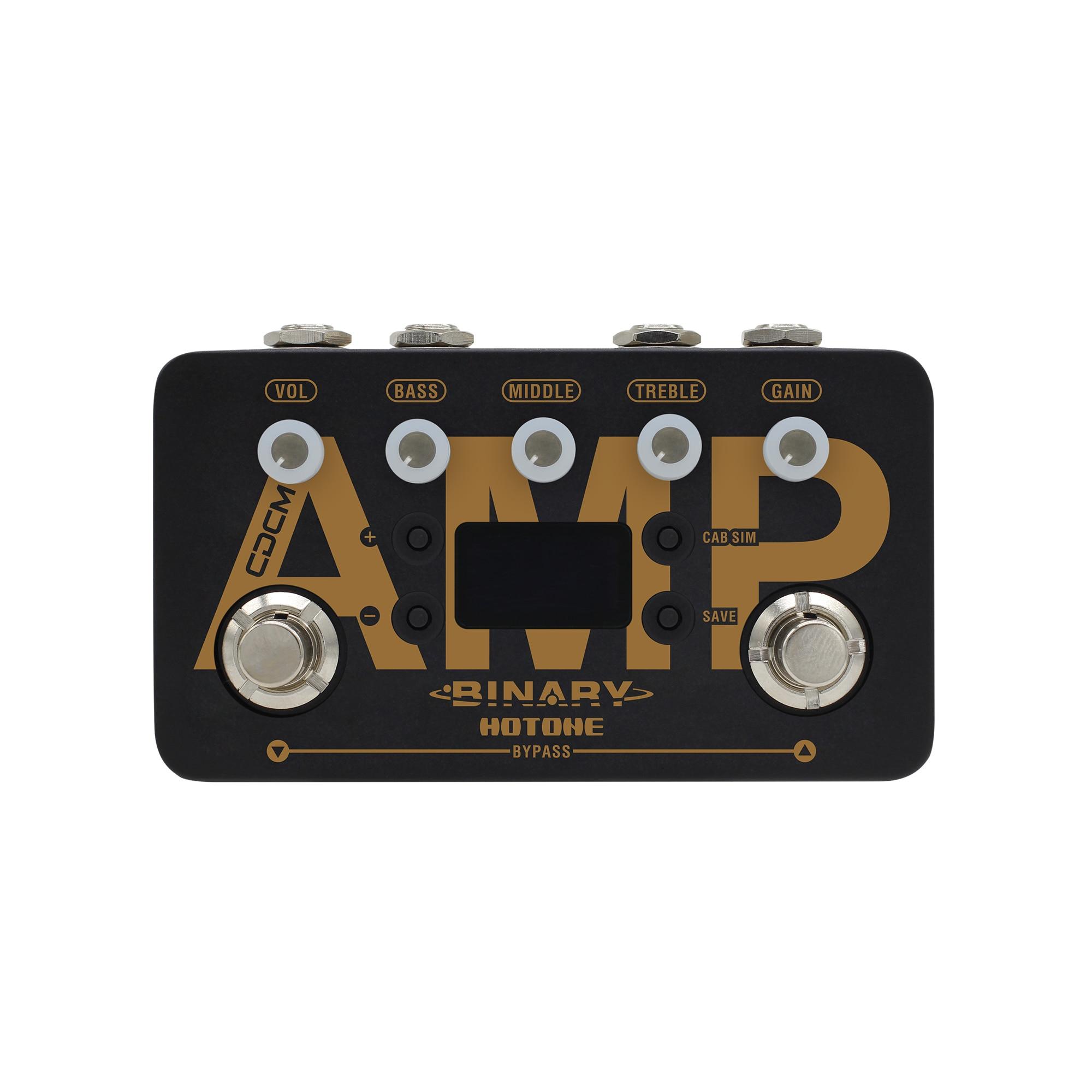 hotone binary amp cdcm amplifier simulator effects pedal dual dsp powered platform electric. Black Bedroom Furniture Sets. Home Design Ideas