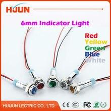 Ярко-красный сигнальная плоский сигнала индикатор металлический желтый круглый зеленый синий лампа