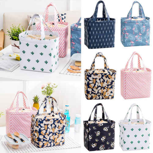 Adult KId Insulated Lunch Bag Tote Thermal Cooler Picnic Travel Food Box Handbag