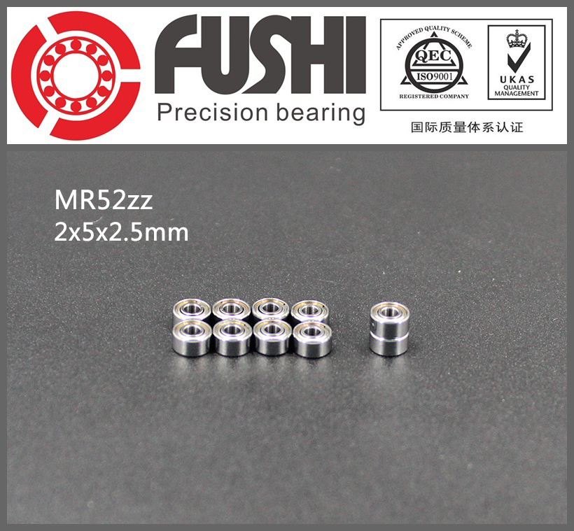 MR52ZZ Bearing ABEC-1 (10PCS) 2*5*2.5 mm Miniature MR52 ZZ Ball Bearings L-520ZZ W52 MR52Z 6903zz bearing abec 1 10pcs 17x30x7 mm thin section 6903 zz ball bearings 6903z 61903 z