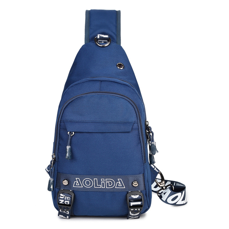 AOLIDA Hot 2017 Casual Canvas Chest Package Men Bag With Shoulder Strap Fashion Zipper Male Small Sling Men Messenger Bags Brand