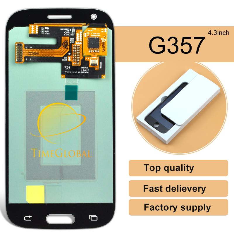 5 unids/lote nuevo teléfono móvil lcd para samsung ace 4 g357 con pantalla tácti