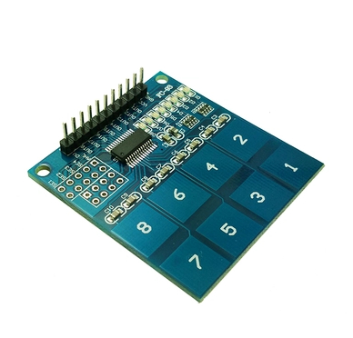Free Shipping! 10pcs/lot TTP226 8 channel Switch Touch Sensor Capacitive Touch Sensor Module for arduino