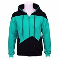 Star Trek filme Cosplay Hoodie Zip up Camisolas de Algodão Casaco Outwear do Dia Das Bruxas