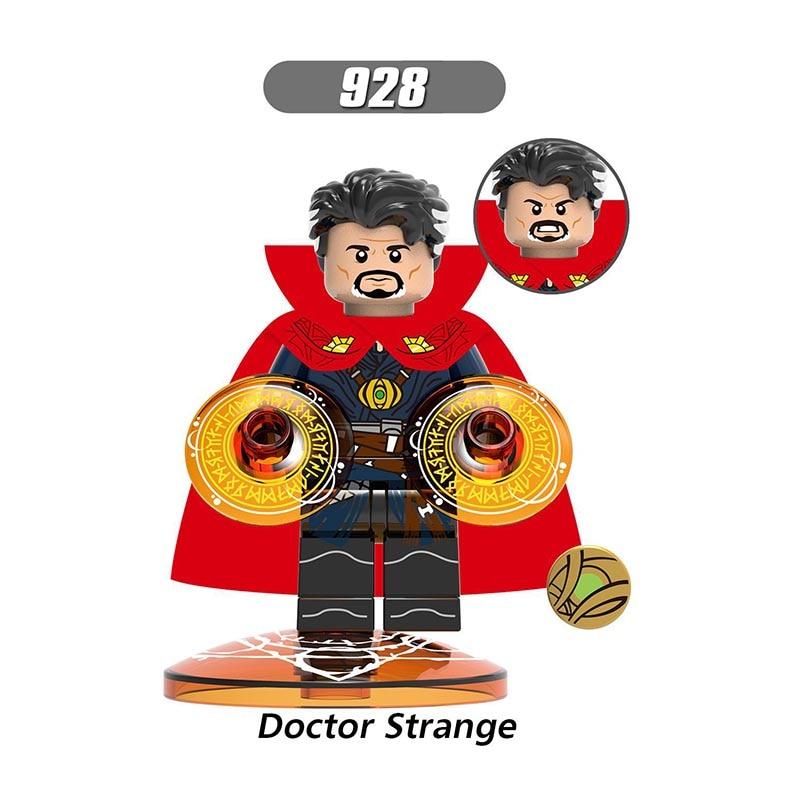 Single Sale LegoINGlys Super Heroes  Avengers 3 Theory Mini Figures Doctor Strange Building Blocks Toys Children Gift X0215