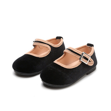 New Arrival Children Flats Fashion Casual Girls Leather shoes Soft comfortable Loafers Velvet Breathable Princess 02B