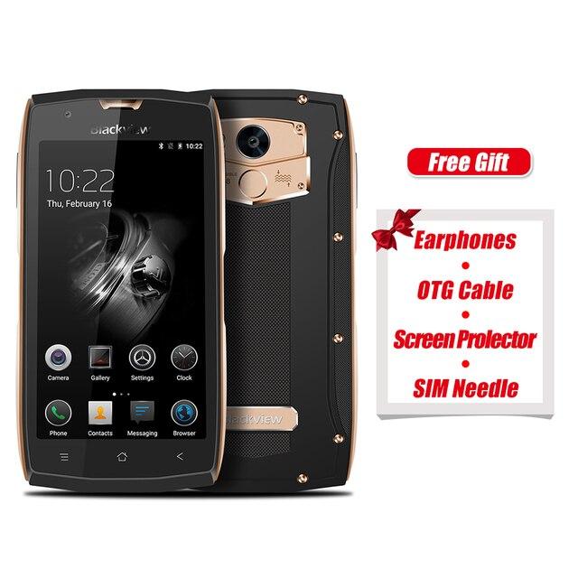 Blackview BV7000 оригинальный 4 г смартфон 5.0 дюймов Android 7.0 1.5 ГГц 4 ядра 2 ГБ Оперативная память 16 ГБ Встроенная память отпечатков пальцев сканер NFC OTG телефон