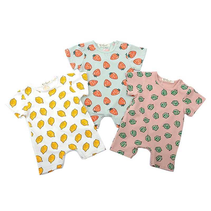Летние детские комбинезоны для мальчиков и девочек, с изображением мультяшного автомобиля, мягкая хлопковая одежда, комплекты одежды для новорожденных, на возраст от 0 до 18 месяцев, одежда для малышей и девочек постарше, летний костюм Одежда