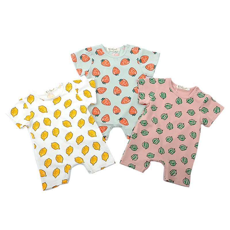 Summer Baby Infant   Rompers   Boy Girl Cartoon Car Cotton Soft Clothes Outfits Newborn 0-18M Toddler Baby Summer Costume Outfits