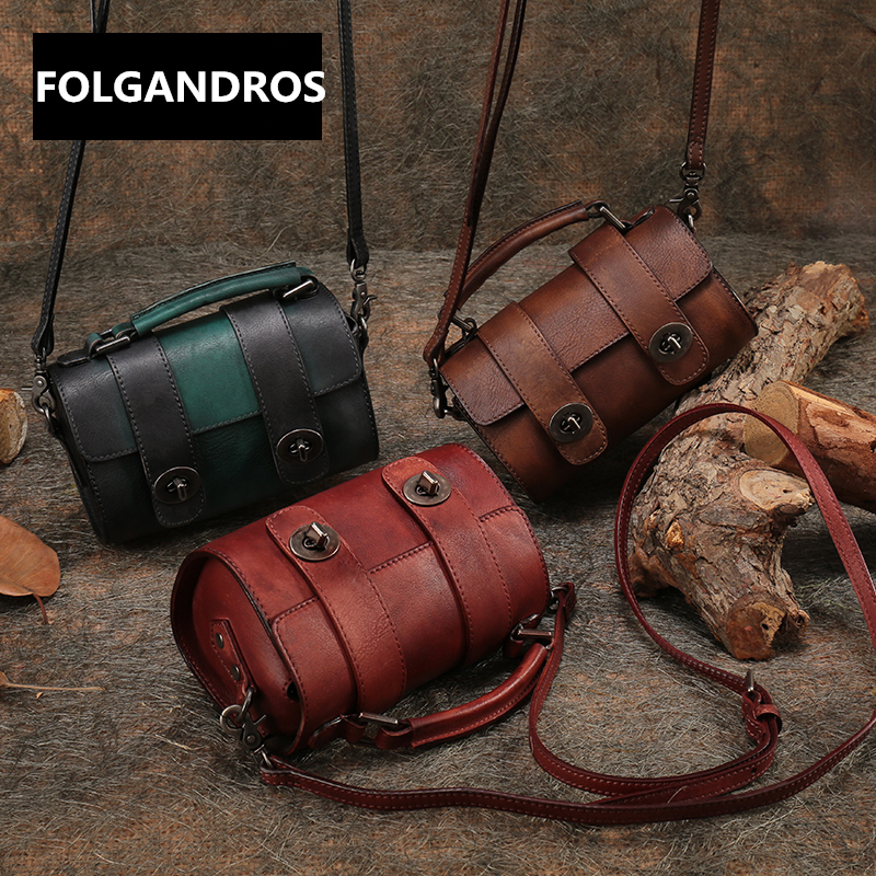 2018 Brand Genuine Leather Mini Handbag Women Cowhide Shoulder Bag Designer Handmade Top Quality Crossbody Messenger Bags Bolsa