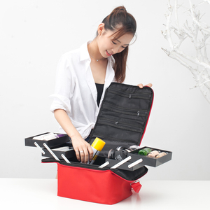 Image 5 - Maleta profesional para caja de maquillaje, bolsa de maquillaje grande con cremallera, organizador, estuche de almacenamiento, neceser, estuche de belleza