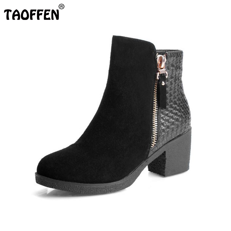 ФОТО women real genuine leather high heel ankle boots half short botas autumn winter boot warm brand footwear shoes R7554 size 34-39