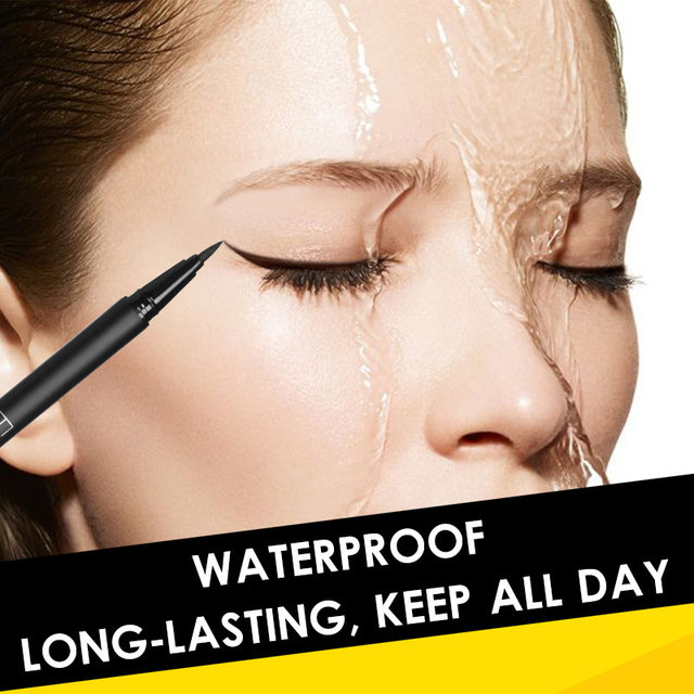 FOCALLURE 黒アイライナーペンシル防水アイライナーペンプロフェッショナルアイメイクの持続化粧品ツール