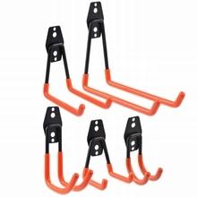 DOZZLOR 1Set Five Hook Sets anaranjado gancho y tornillo instalación resistente para organizar herramientas eléctricas Gancho de soporte