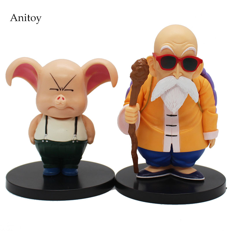 2pcs/set Dragon Ball Master Roshi Oolong Doll PVC Action Figure Collectible Model Toy 13-16cm KT3365 free shipping anime dragon ball master roshi pvc action figure collection model toy 25cm orange new loose