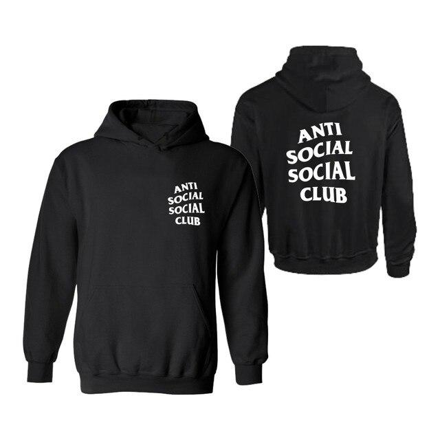 Анти Социальные Социальный Клуб С Капюшоном Мужские xxxl Балахон в 4XL Мужские GD Kanye West Толстовки и Кофты Хлопка 3XL