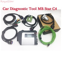 AAAA quality Auto diagnostic scanner tool MB STAR C4 SD Connect with HDD obd2 device for car/ truck ready to use