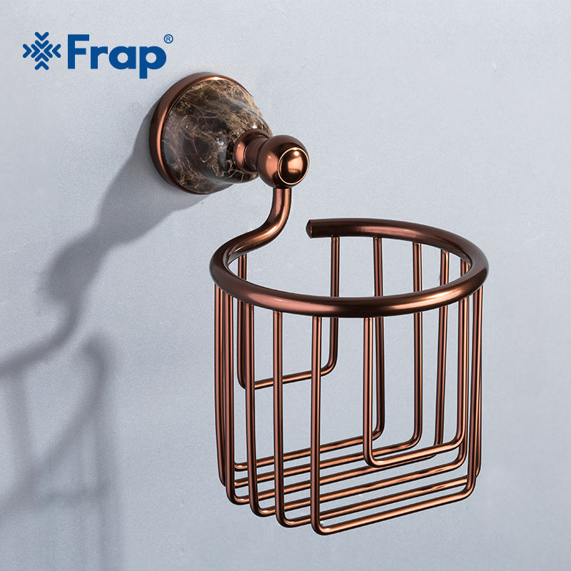 Frap Paper Holders Euro Style Wall Mounted Space Aluminum Paper Roll Holder Toilet Red Paper Holder Bathroom Accessories Y18083 euro roll