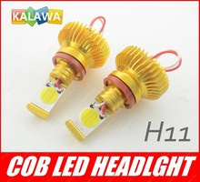 Одна пара H11 22 Вт Высокой Мощности COB чип LED Фары Автомобиля с COB СВЕТОДИОДНЫЙ Источник Противотуманная Фара FREESHIPPING GGG