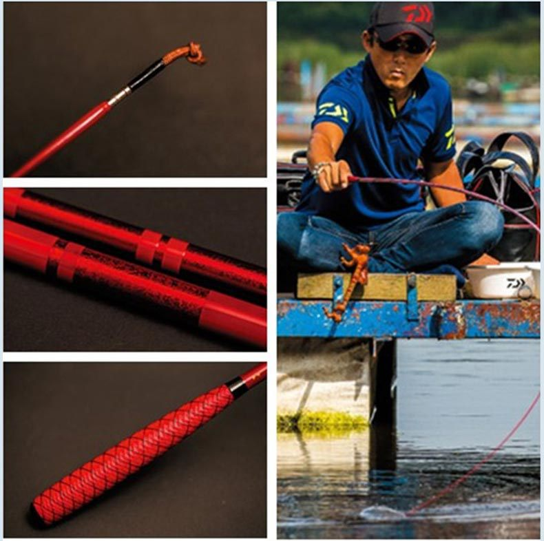 ultra-leve ultra-fino duro taiwan vara de pesca
