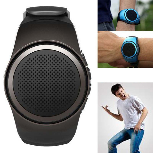 Mini Wireless Wrist Watch Speakers Outdoor Portable Bluetooth Audio Sport Watch
