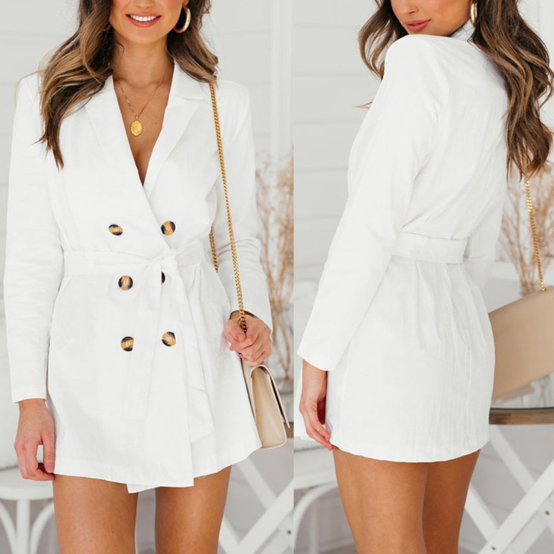 Womens   Trench   Coat Autumn Spring Overcoats Turn-down Collar Solid Button Dust coats