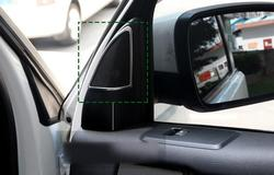 Samochód stylizacji ABS Chrome wewnętrzna drzwi samochodu osłona głośnika stereo wykończenia 2 sztuk/zestaw dla Land Rover LR4 Discovery 4 2010-2015