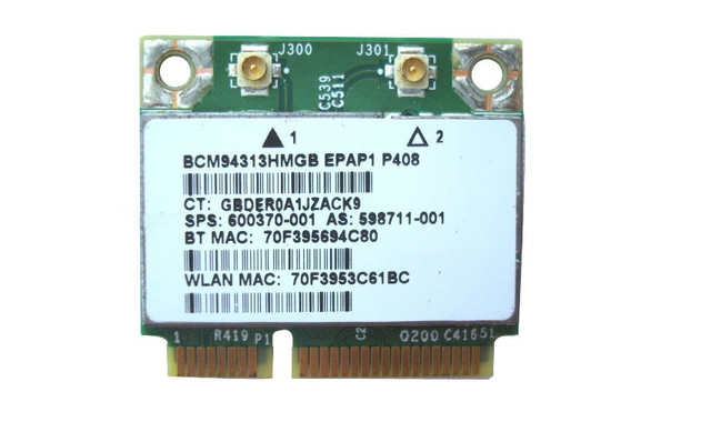 Free shipping ,   802.11n WiFi Bluetooth 2.1 combo card 600370-001 For HP Pavilion dv7 dv6