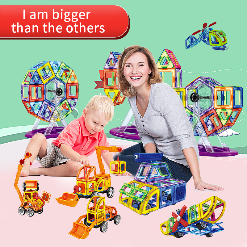 Educational enlighten games magnetic designer kids toys for children boys construction set Assemble model building Blocks bricks magnetic wooden puzzle toys for children educational wooden toys cartoon animals puzzles table kids games juguetes educativos