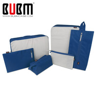 BUBM 6 Sets Packing Cubes For Travel Luggage Organizer Pouch Home Storage Organiser For Clothing Laundry Bag Toiletry Bag
