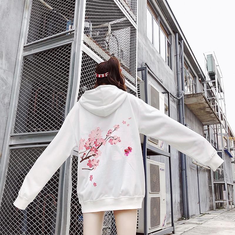 Newосень/зима хип-хоп девушка свободно облегающие толстовка с капюшоном 2018