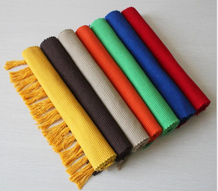 Rectangle Cotton Carpet Living Dining Bedroom Area Rugs Slip Resistant  Plain Floor Mats Washable Bathroom Carpet