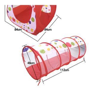 Image 5 - Przenośny Pool Tube tipi Baby 3pc duży namiot do zabawy namiot składany dom zabaw dla dzieci tunel do indeksowania piłka oceaniczna namioty do zabawy