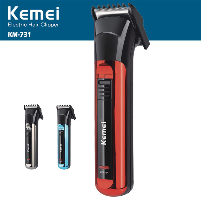 Kemei Electric Hair Clipper Both Rechargeable And Battery Hair Trimmer Men Razor Cordless Adjustable Professional Clipper KM-731 top sale kemei km 666 dry battery style electric hair clipper excluding battery