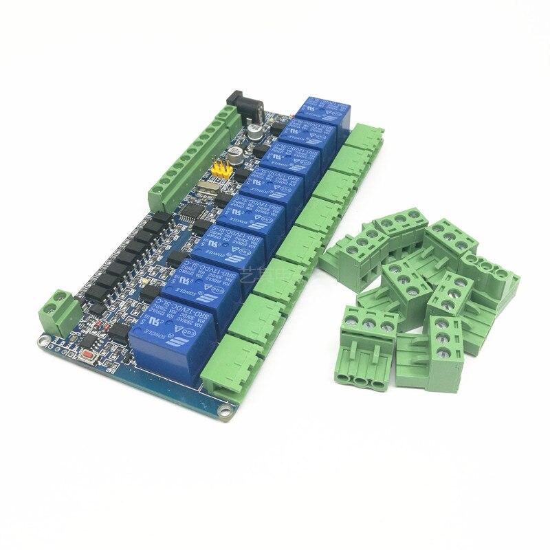 1 шт. с протоколом Modbus rtu ptz камеры 8 канальный релейный модуль 485 ttl связи 8 канальный вход релейный модуль