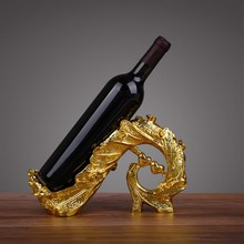 Creative Peacock Tail Wine Rack Decoration Retro Resin Stand Best Bottle Bar Decor Accessories Home Gift