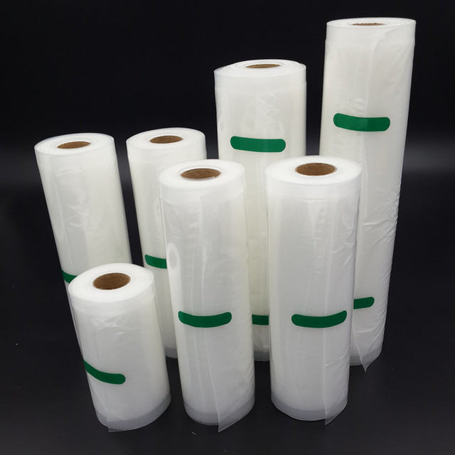 7pcs/lot Food Vacuum Bag Storage Bags For Vacuum Sealer Food Fresh Long Keeping 12+15+17+20+25+28+30cm*500cm 7 Rolls