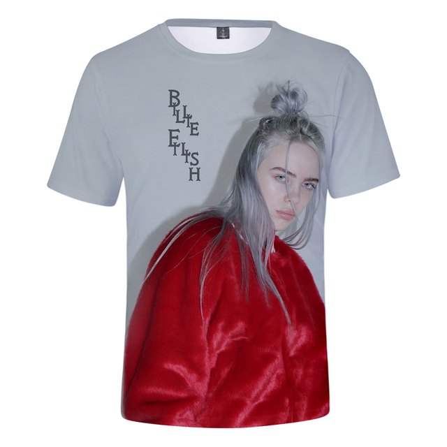 BILLIE EILISH 3D T-SHIRT (11 VARIAN)