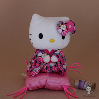 Kimono Hello Kitty Doll Toy Plush Baby Girls Stuffed Toys Gifts Good Quality