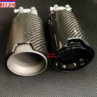 1 PCS BLACK M Performance Akrapovic carbon fiber Exhaust Tip for BMW Series M3 M4 M5 2012 car styling car exhaust