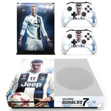 New Skin Sticker Decal For Xbox One S Console and Controllers for Xbox One Slim Skin Stickers Vinyl – Juventus Cristiano Ronaldo