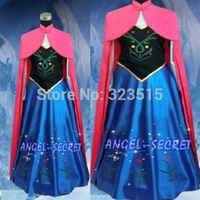 Nouvelle reine des neiges princesse Anna fait Costume de Cosplay pour les femmes adultes avec robe de couronnement cape livraison directe