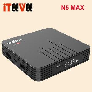 Image 3 - Magicsee N5 ماكس Amlogic S905X3 أندرويد 9.0 صندوق التلفزيون 4G 32G/64G Rom 2.4 + 5G المزدوج واي فاي بلوتوث 4.0 صندوق ذكي 4K مجموعة صندوق فوقي
