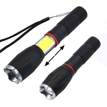 Tactical Led flashlight 3800 Lumens CREE XML T6 Torch Lantern Hidden COB Light Powerful Flashlight Tail Super Magnet For Camping Люмен